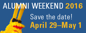 alumni weekend 2016 save the date april 29 to may 1