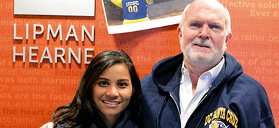 Alumna Azwa Salleh and fellow alum Rob Moore