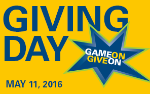 Giving Day May 11, 2016 Game On Give On