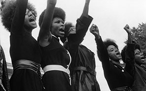Black Panthers from Sacramento at the same Free Huey rally; from a photo essay on the Black Panthers by Pirkle Jones, 1968