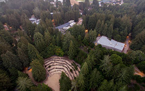 Aerial view of the Quarry Amphitheater