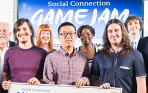 Graduate students Cong Liu, Pedro Cori, and Alex Formoso are the Trainwreck Games team