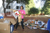 cardboard recycling at move-in