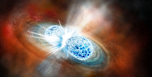 Neutron star merger illustration by Robin Dienel courtesy of the Carnegie Institution for Science.