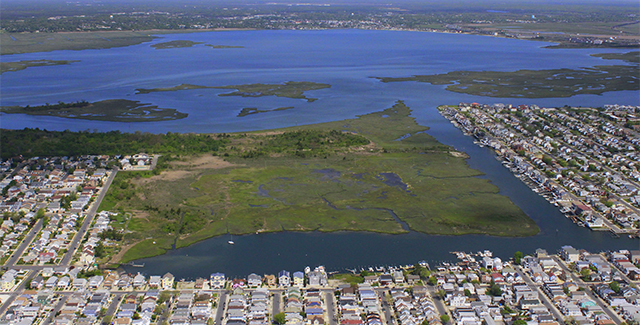 Marsh wetland provides a first line of defense in coastal New Jersey. Photo by Jim Wright LightHawk.