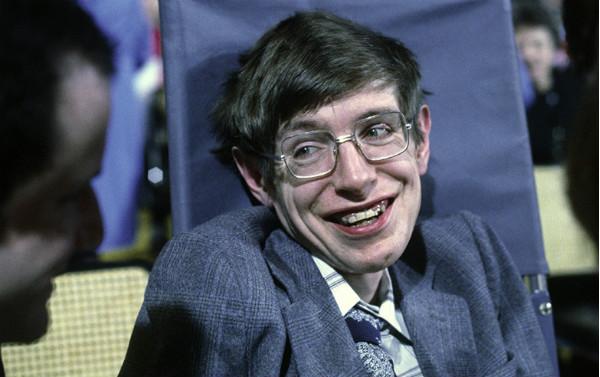 Photo portrait of Stephen Hawking