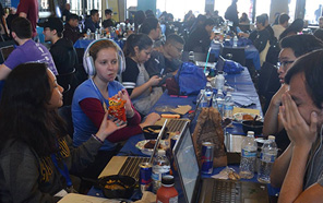Hard-working students gather for 36-hour hackathon.